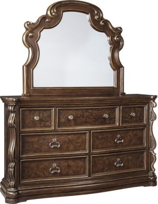Ashley Florentown Dresser with Mirror