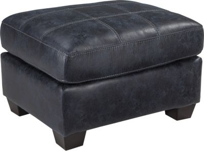 Ashley Inmon Navy Ottoman