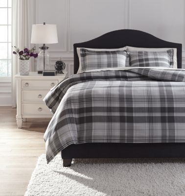 Ashley Danail 3-Piece Gray King Duvet Set