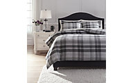 Ashley Danail 3-Piece Gray Queen Duvet Set