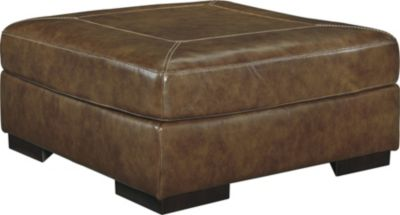 Ashley Vincenzo Leather Oversized Ottoman