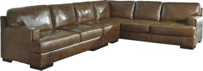 Ashley Vincenzo 3-Piece Right-Side Sofa Leather Sectional