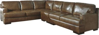 Ashley Vincenzo 3-Piece Left-Side Sofa Leather Sectional
