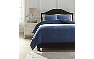 Ashley Aracely Blue 3-Piece Queen Comforter Set