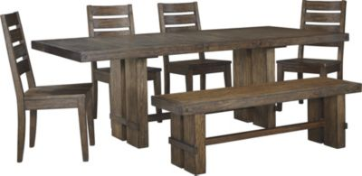Ashley Leystone 6-Piece Dining Set