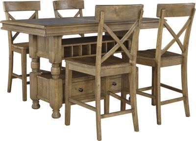 Ashley Trishley Counter Table & 4 Stools