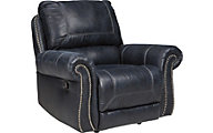 Ashley Milhaven Navy Power Rocker Recliner