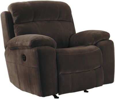 Ashley Uhland Brown Power Rocker Recliner