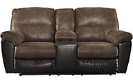 Ashley Follett Reclining Loveseat with Console