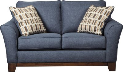 Ashley Janley Blue Loveseat