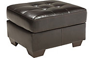 Ashley Coppell Bonded Leather Ottoman