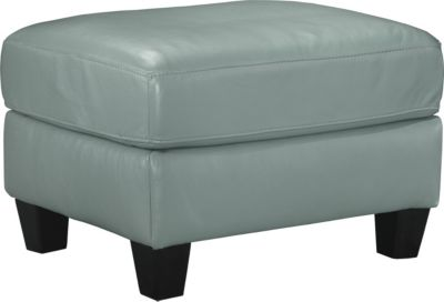 Ashley O'Kean Aqua Ottoman