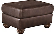 Ashley Mellwood Leather Ottoman