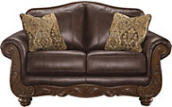 Ashley Mellwood Leather Loveseat