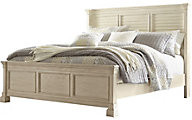 Ashley Bolanburg King Louvered Panel Bed