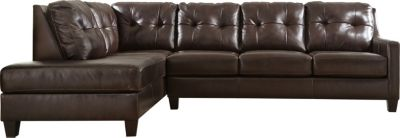 Ashley O'Kean Brown Right-Side Sofa 2-Piece Sectional