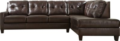Ashley O'Kean Brown Left-Side Sleeper 2-Piece Sectional