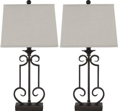 Ashley Ainslie Metal Table Lamp (Set of 2)