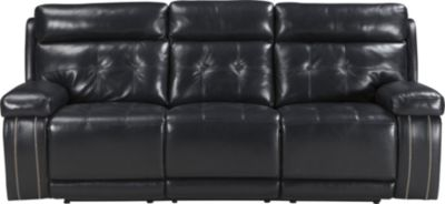 Ashley Graford Navy Power Reclining Sofa