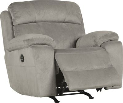 Ashley Uhland Gray Power Rocker Recliner