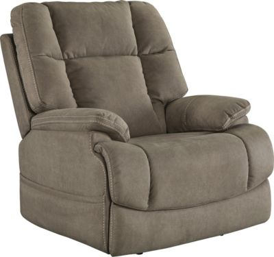 Ashley Fourche Tan Power Recliner