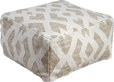 Ashley Badar Taupe Pouf