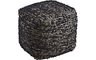 Ashley Darita Black Pouf