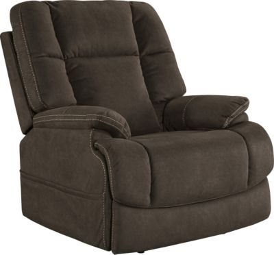 Ashley Fourche Brown Power Recliner