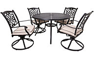 Ashley Burnella 5-Piece Round Swivel Outdoor Dining Set