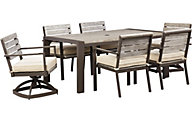 Ashley Peachstone 7-Piece Outdoor Dining Set