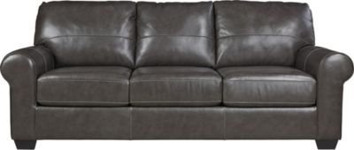 Ashley Canterelli Gray Leather Sofa