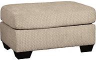 Ashley Wixon Cream Ottoman