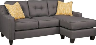 Ashley Aldie Nuvella Gray Sofa Chaise Homemakers Furniture