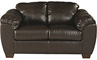 Ashley Franden Bonded Leather Loveseat