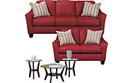 Ashley Hannin Sofa, Loveseat & 3-Piece Table Set