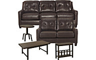 Ashley Okean Sofa, Loveseat & 3-Piece Table Set