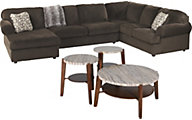 Ashley Sectional & Steve Silver 3-Piece Table Set