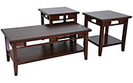 Ashley Logan Coffee Table & 2 End Tables