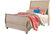 Ashley Willowton Full Sleigh Bed