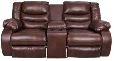Ashley Linebacker Reclining Loveseat with Console