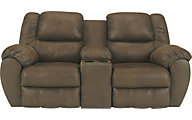 Ashley Quarterback Reclining Loveseat with Console