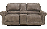 Ashley Oberson Reclining Loveseat with Console