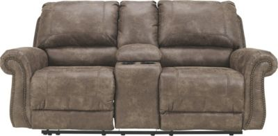 Ashley Oberson Power Reclining Loveseat with Console