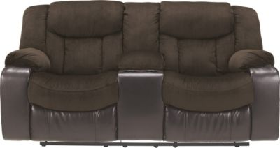 Ashley Tafton Reclining Loveseat with Console