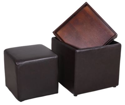 Ashley Cubit Flip-Top Ottoman with Bonus Cube
