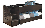 Ashley Embrace Loft with Left Steps & Caster Bed