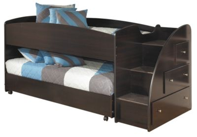 Ashley Embrace Loft with Right Steps & Caster Bed
