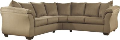 Ashley Darcy Microfiber 2-Piece Sectional