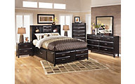 Ashley Kira 4-Piece Queen Storage Bedroom Set