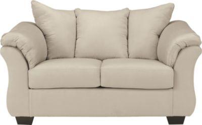 Ashley Darcy Microfiber Cream Loveseat Homemakers Furniture